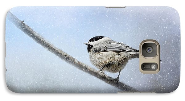 Chickadee In The Snow Galaxy Case by Jai Johnson