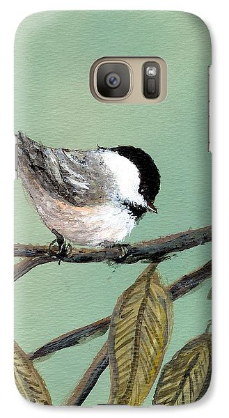 Galaxy Case featuring the painting Chickadee Set 10 - Bird 1 by Kathleen McDermott