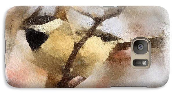 Galaxy Case featuring the painting Chickadee Watercolor by Kerri Farley