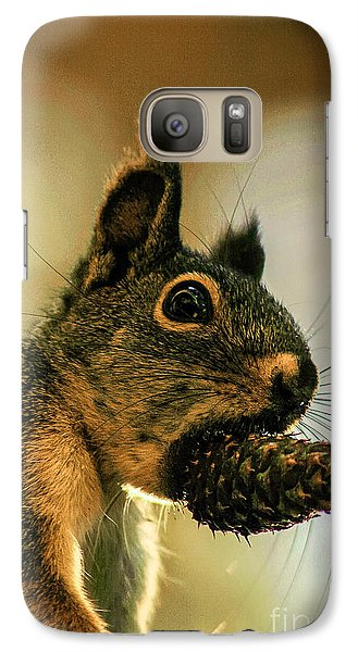 Galaxy Case featuring the photograph Chickaree by Mitch Shindelbower