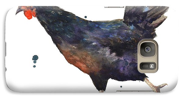 Chicken Chase Galaxy Case by Alison Fennell