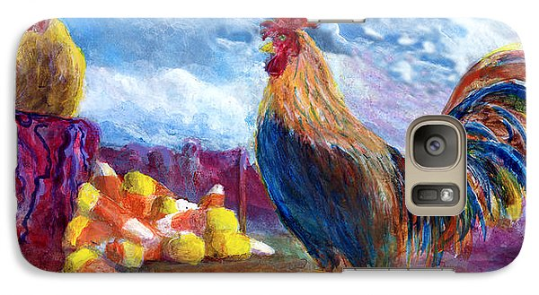 Galaxy Case featuring the painting Chickens And Candy Corn by Lenora  De Lude