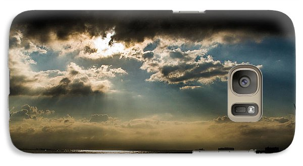 Galaxy Case featuring the photograph Chick's Beach Morning by Angela DeFrias