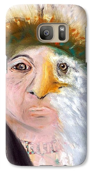 Galaxy Case featuring the painting Chief Black Eagle by Ayasha Loya