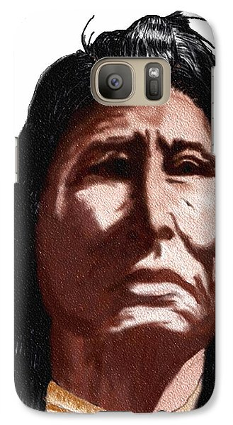 Galaxy Case featuring the digital art Chief by Terry Frederick