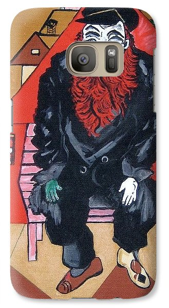 Galaxy Case featuring the painting Chigall By Nora by Nora Shepley
