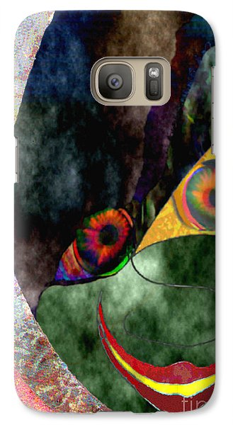 Galaxy Case featuring the digital art Child With Bright Shadow - Kind Mit Lichtem Schatten by Mojo Mendiola