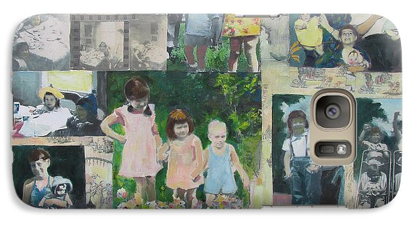 Galaxy Case featuring the painting Childhood Joys by Linda Novick