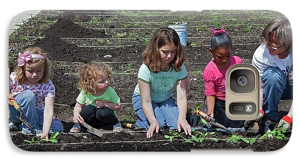 Children At Work In A Community Garden Galaxy Case by Jim West