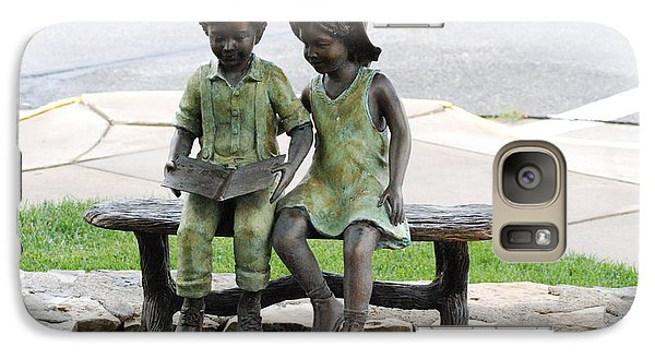 Galaxy Case featuring the photograph Children Statue by Mark McReynolds