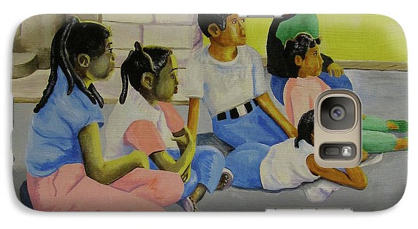 Galaxy Case featuring the painting Children's Attention Span  by Thomas J Herring