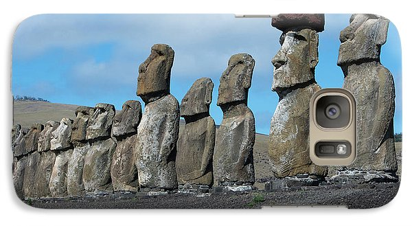 Chile, Easter Island, Hanga Nui Galaxy Case by Cindy Miller Hopkins