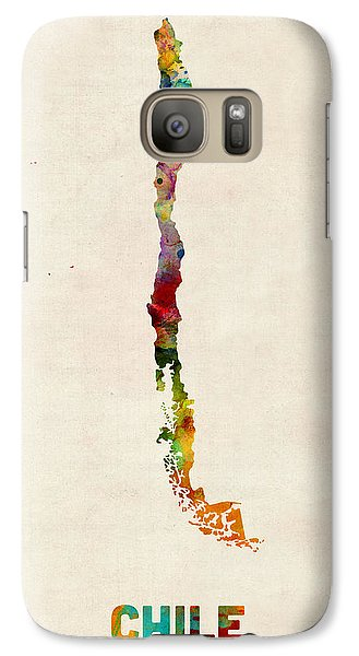 Chile Watercolor Map Galaxy Case by Michael Tompsett