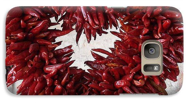 Galaxy Case featuring the photograph Chili Pepper Heart by Kerri Mortenson