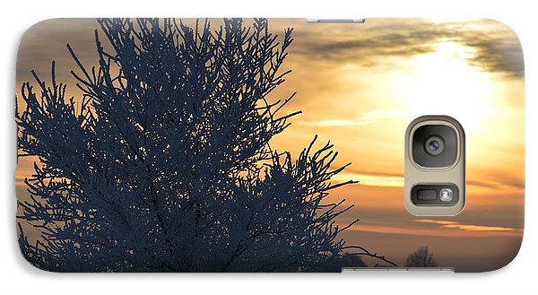 Galaxy Case featuring the photograph Chilly Sunrise by Dacia Doroff