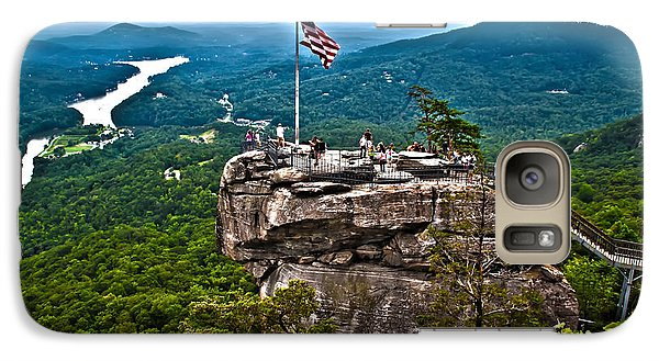 Galaxy Case featuring the photograph Chimney Rock At Lake Lure by Alex Grichenko