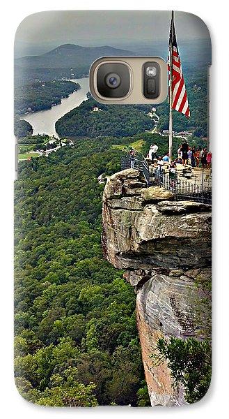Galaxy Case featuring the photograph Chimney Rock Overlook by Alex Grichenko