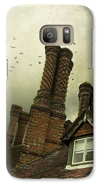 Galaxy Case featuring the photograph Chimney Stacks by Ethiriel  Photography