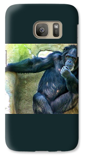Galaxy Case featuring the photograph Chimp 1 by Dawn Eshelman