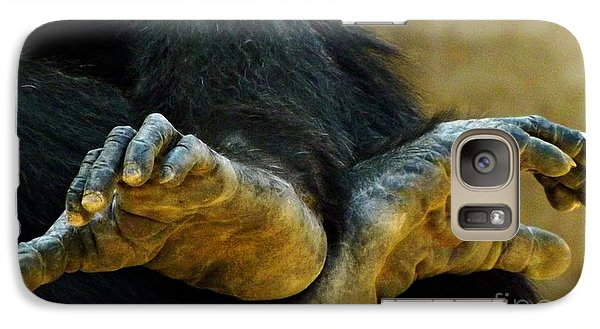 Galaxy Case featuring the photograph Chimpanzee Feet by Clare Bevan