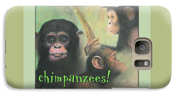 Galaxy Case featuring the pastel Chimpanzees - Art 4 Kids by Brooks Garten Hauschild