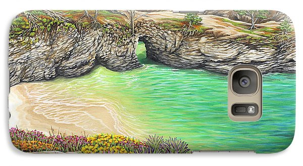 Galaxy Case featuring the painting China Cove Paradise by Jane Girardot