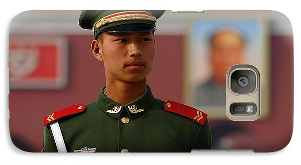 Galaxy Case featuring the photograph China Soldier by Henry Kowalski