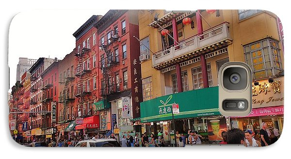 Galaxy Case featuring the photograph China Town Nyc by Robin Coaker