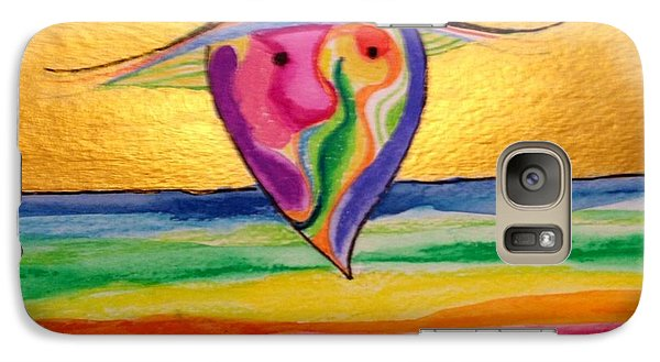 Galaxy Case featuring the painting Chinaman's Hat by Erika Swartzkopf
