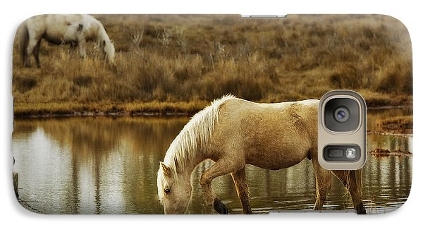 Galaxy Case featuring the photograph Chincoteague Gold by Joan Davis