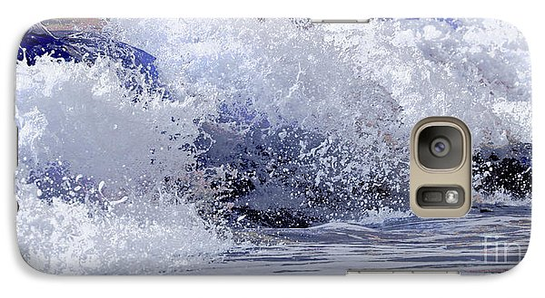 Galaxy Case featuring the photograph Chincoteague Waves by Olivia Hardwicke