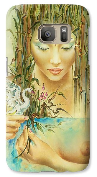 Galaxy Case featuring the painting Chinese Fairytale by Anna Ewa Miarczynska