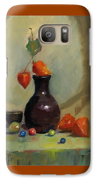 Galaxy Case featuring the painting Chinese Lanterns And Marbles by Susan Thomas