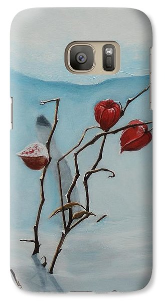 Galaxy Case featuring the painting Chinese Lanterns by Jesslyn Fraser