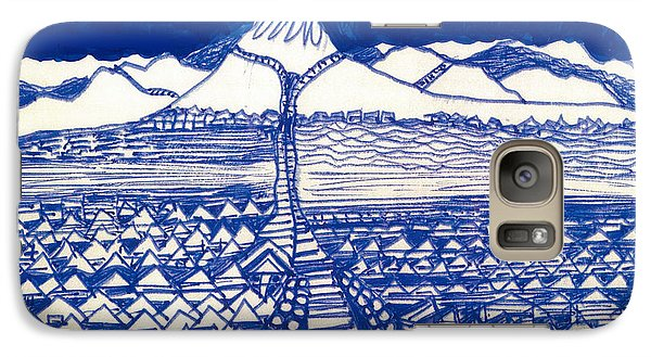Galaxy Case featuring the drawing Chinese Mountain by Don Koester
