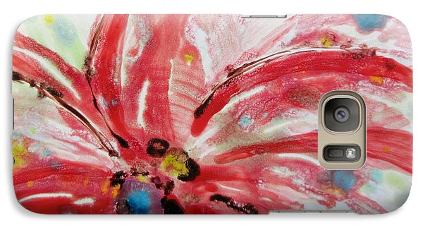 Galaxy Case featuring the painting Chinese Red Flower by Joan Reese