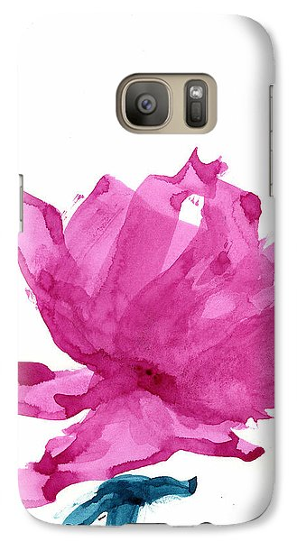 Galaxy Case featuring the painting Chinese Rose Hibiscus by Frank Bright