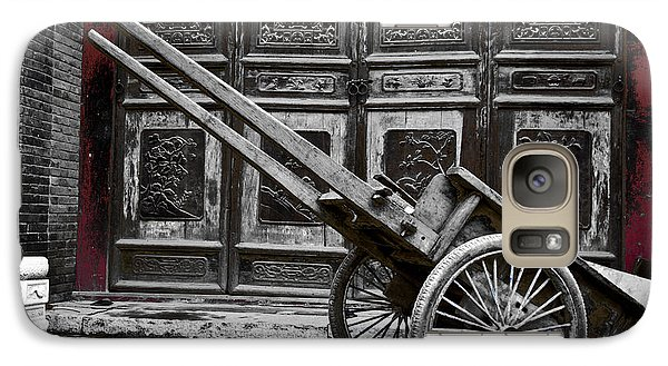 Galaxy Case featuring the photograph Chinese Wagon In Black And White Xi'an China by Sally Ross