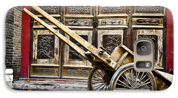 Galaxy Case featuring the photograph Chinese Wagon In Color Xi'an China by Sally Ross