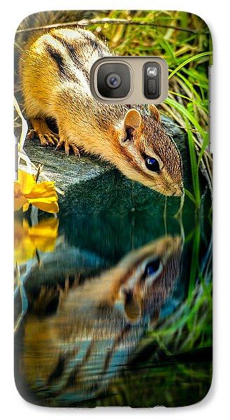 Chipmunk Reflection Galaxy S7 Case by Bob Orsillo