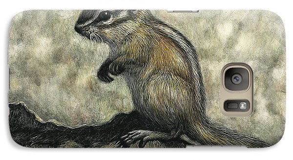 Galaxy Case featuring the drawing Chipmunk  by Sandra LaFaut