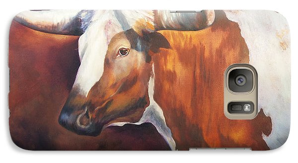 Galaxy Case featuring the painting Chisholm Longhorn by Karen Kennedy Chatham
