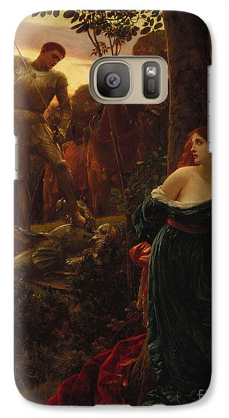 Chivalry Galaxy S7 Case by Sir Frank Dicksee