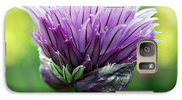 Galaxy Case featuring the photograph Chive Blossom by Kjirsten Collier