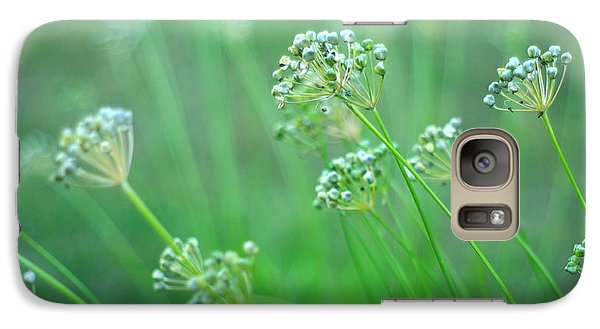 Galaxy Case featuring the photograph Chive Garden by Suzanne Powers