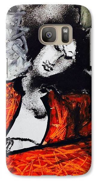 Galaxy Case featuring the drawing Chloe by Helen Syron