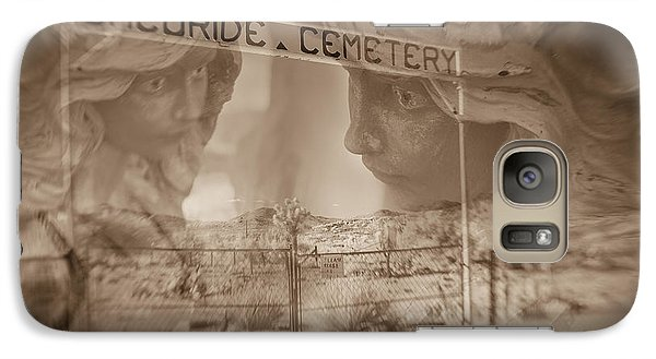 Galaxy Case featuring the photograph Chloride Cemetery by Marianne Jensen