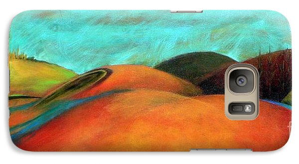 Galaxy Case featuring the painting Chocolate Hills by Elizabeth Fontaine-Barr