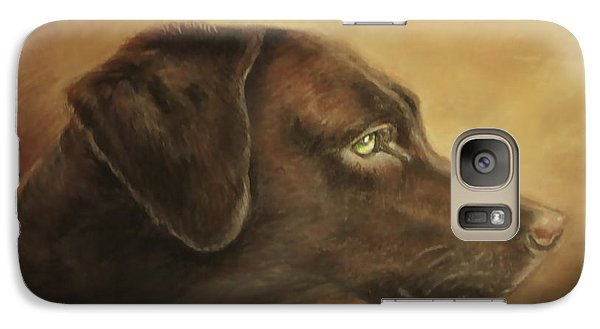 Galaxy Case featuring the painting Chocolate Lab by Patricia Schneider Mitchell
