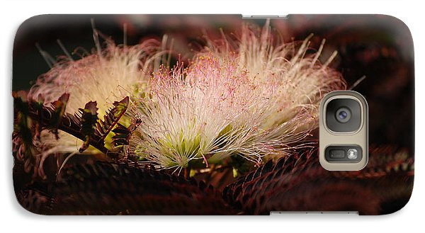 Galaxy Case featuring the photograph Chocolate Mimosa Flower by Mark McReynolds